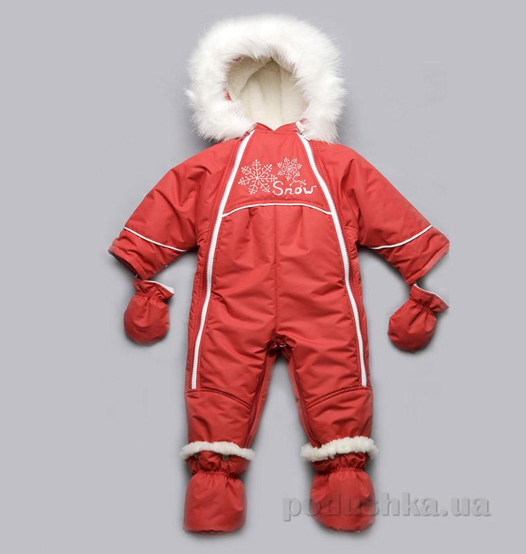 Детский зимний комбинезон-трансформер на меху Модный Карапуз 03-00546