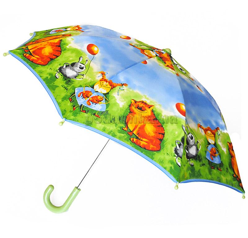 Детский зонтик-трость Пушистые друзья Zest 21561-4035
