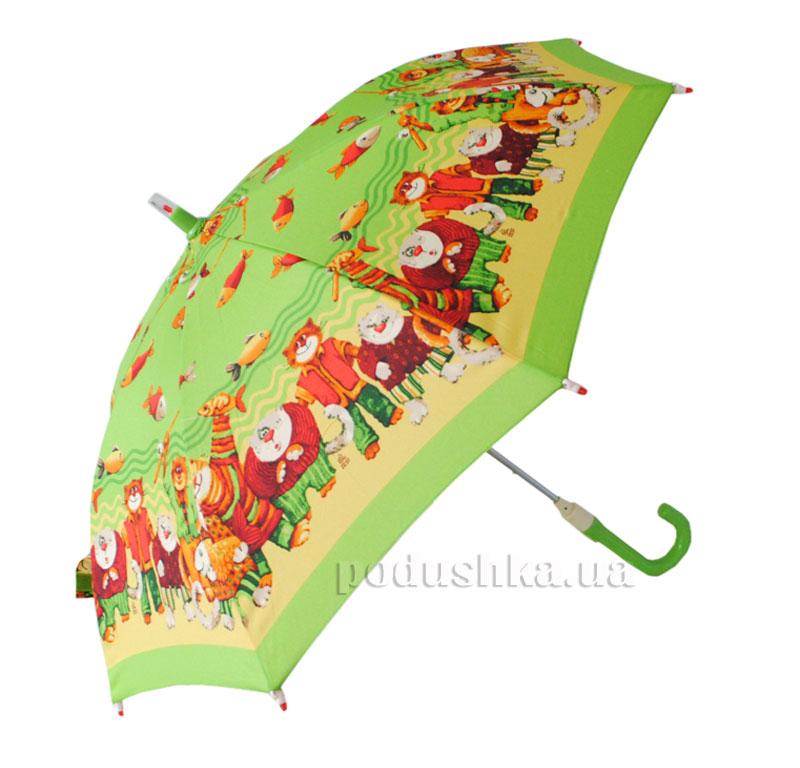 Детский зонтик-трость с фонариком Коты Zest 21551
