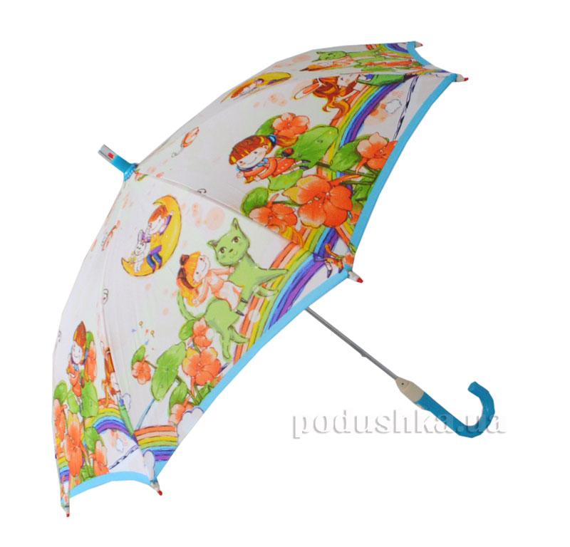 Детский зонтик-трость с фонариком На радуге Zest 21551