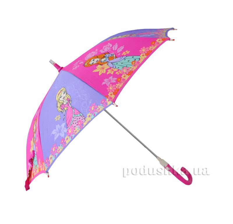 Детский зонтик-трость с фонариком Принцессы Zest 21551