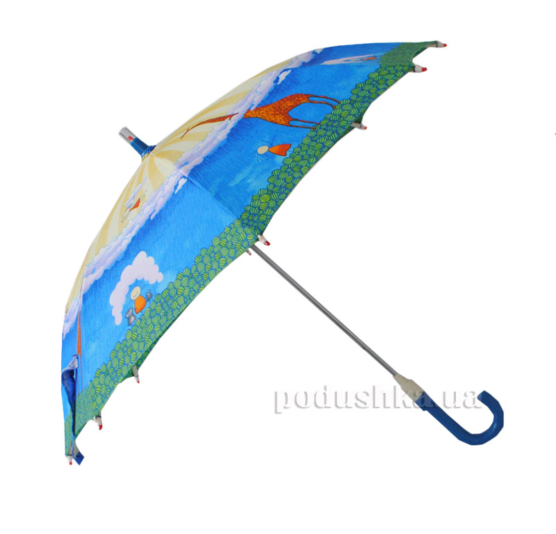 Детский зонтик-трость с фонариком Жираф Zest 21551