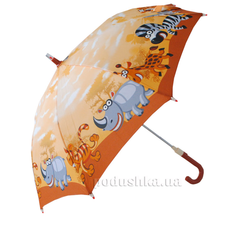 Детский зонтик-трость с фонариком Зоопарк Zest 21551