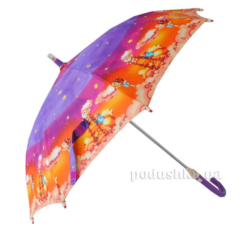 Детский зонтик-трость с фонариком Звезда Zest 21551