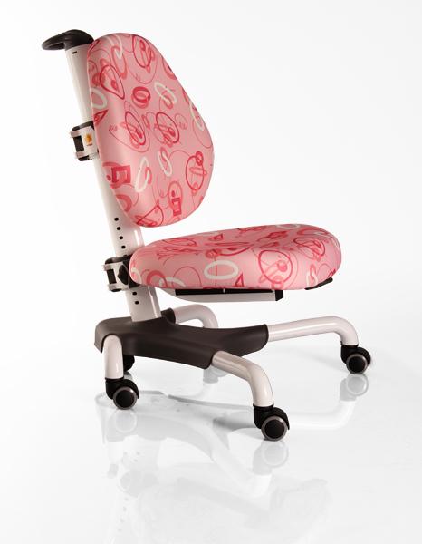 Детское кресло Mealux Y-517 WP белый металл обивка розовая с кольцами