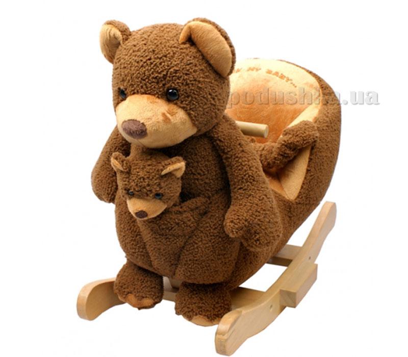 Детское кресло-качалка с музыкой Медвежонок JR2582В Rock my baby