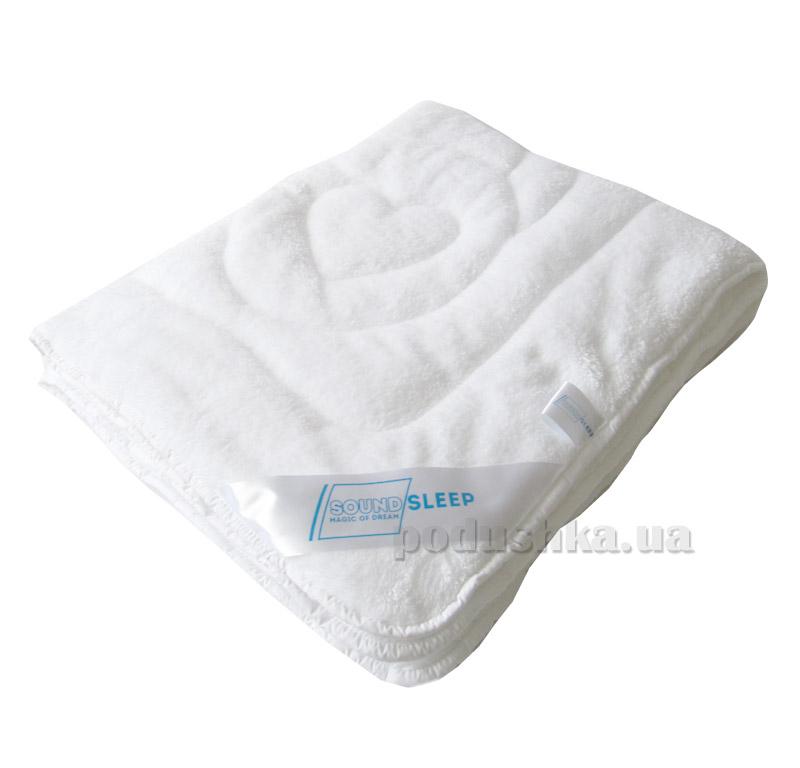 Детское махровое двухстороннее одеяло Мишка SoundSleep Cute белое