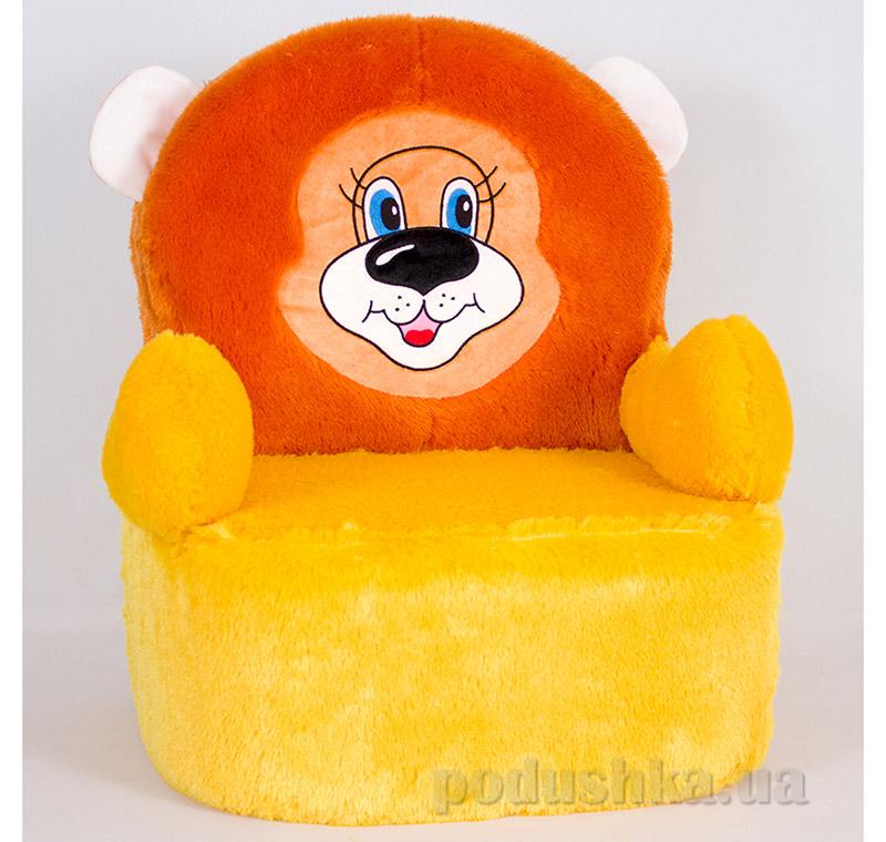 Детское мягкое кресло Копица 00805 Алекс желтое