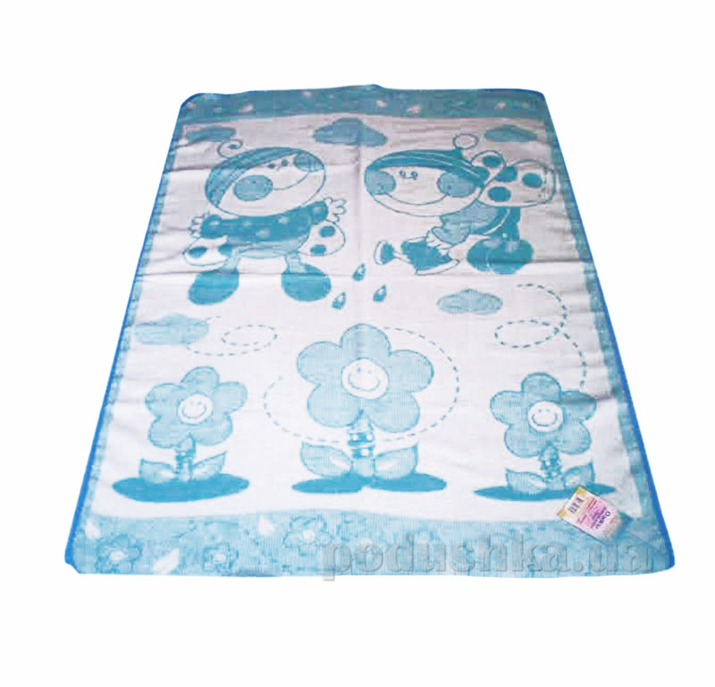 Детское одеяло Букашка Влади голубое