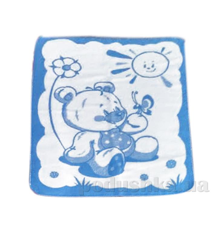 Детское одеяло Мишка Влади голубое