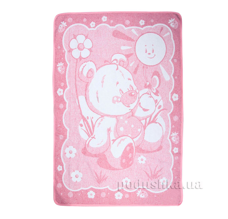 Детское одеяло Мишка Влади розовое