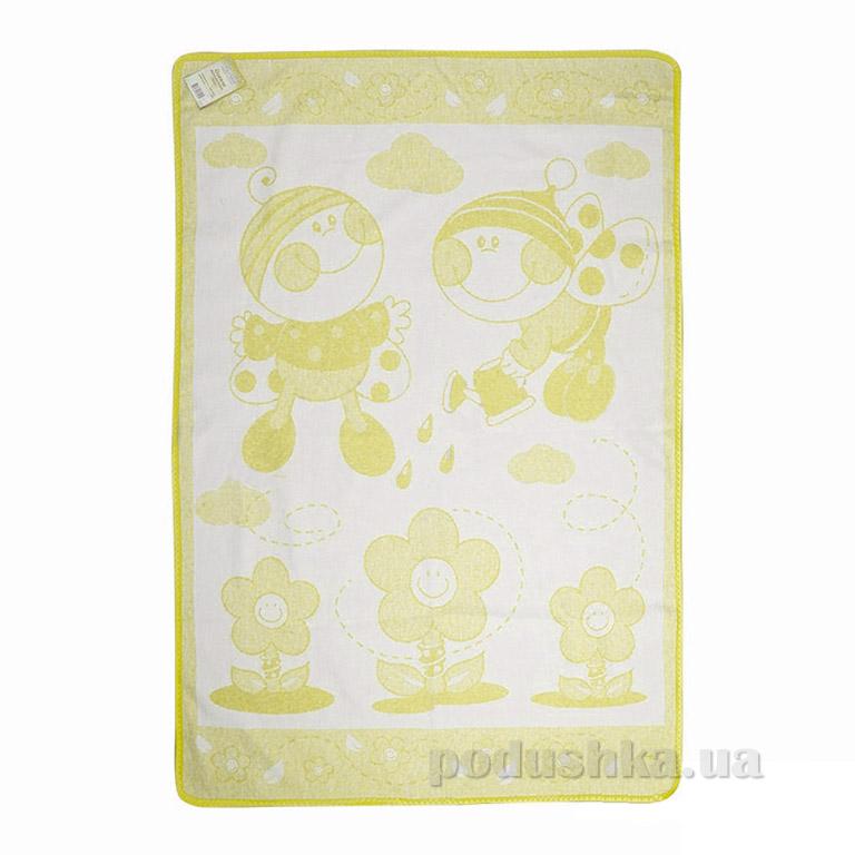 Детское одеяло Влади Букашка желтое
