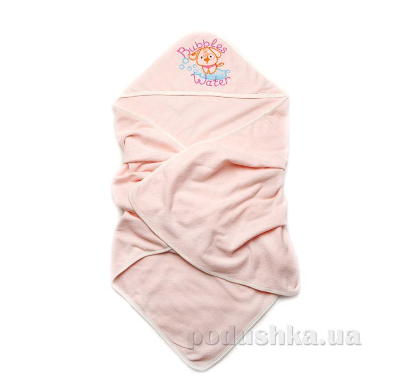 Детское полотенце для купания Модный карапуз персиковое 03-00582