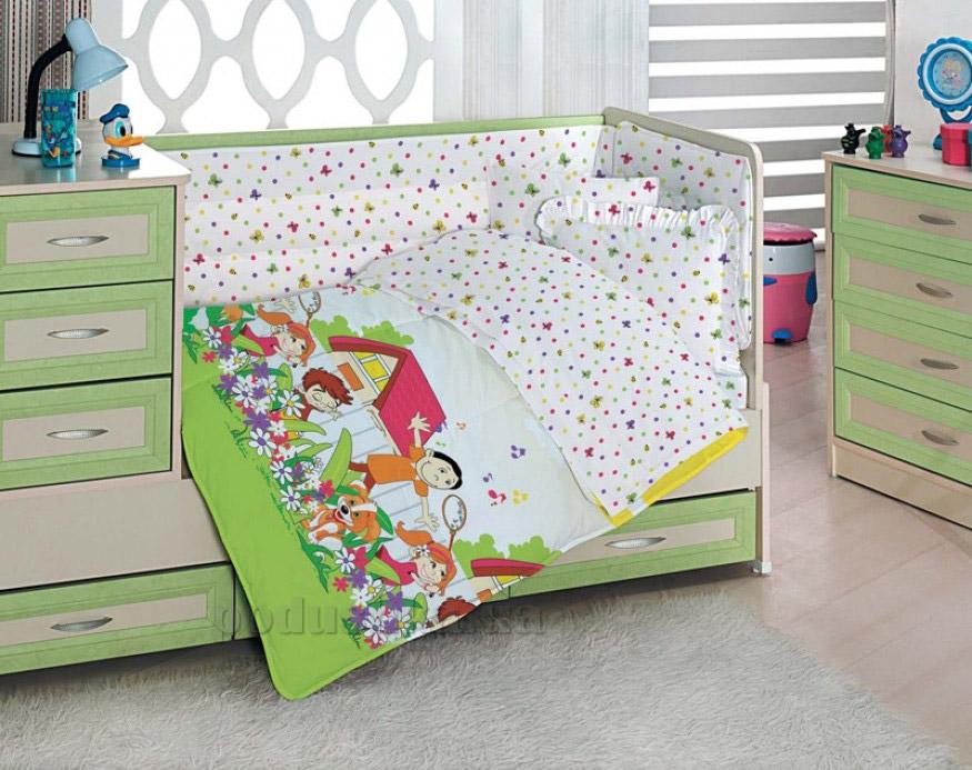Детское постельное белье Altinbasak Happy kids sari