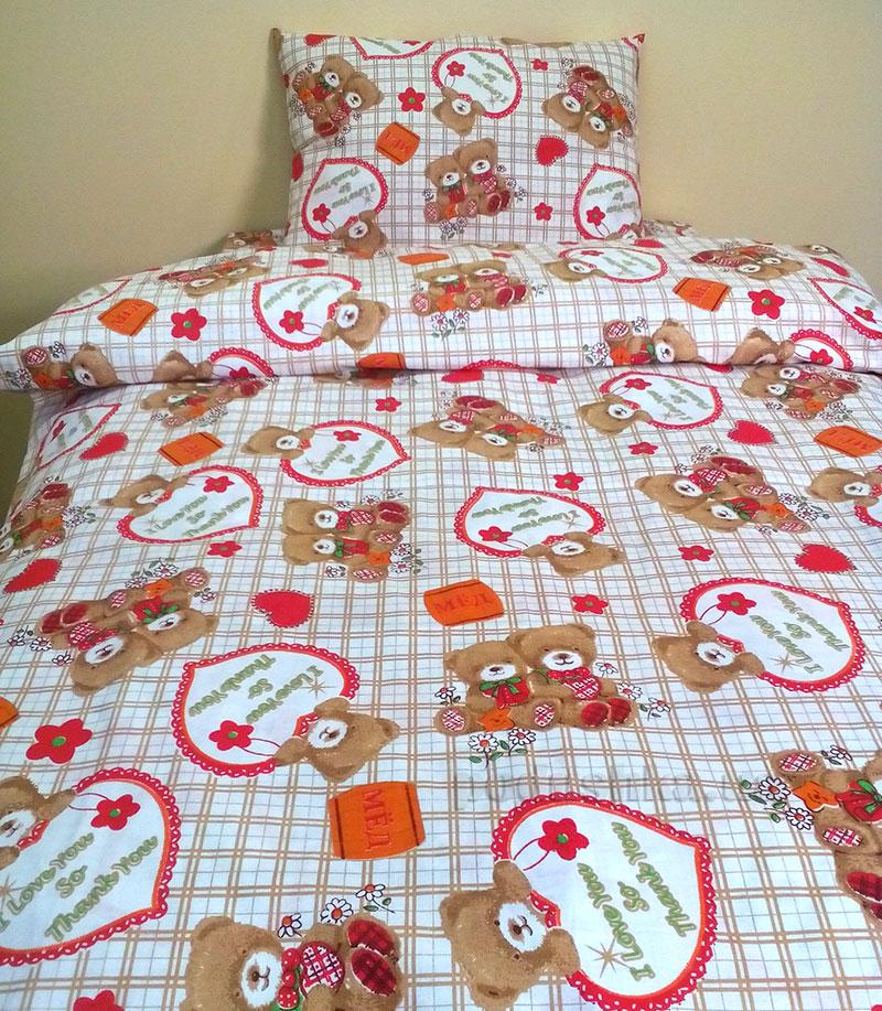 Детское постельное белье Билана Мишки сердечки