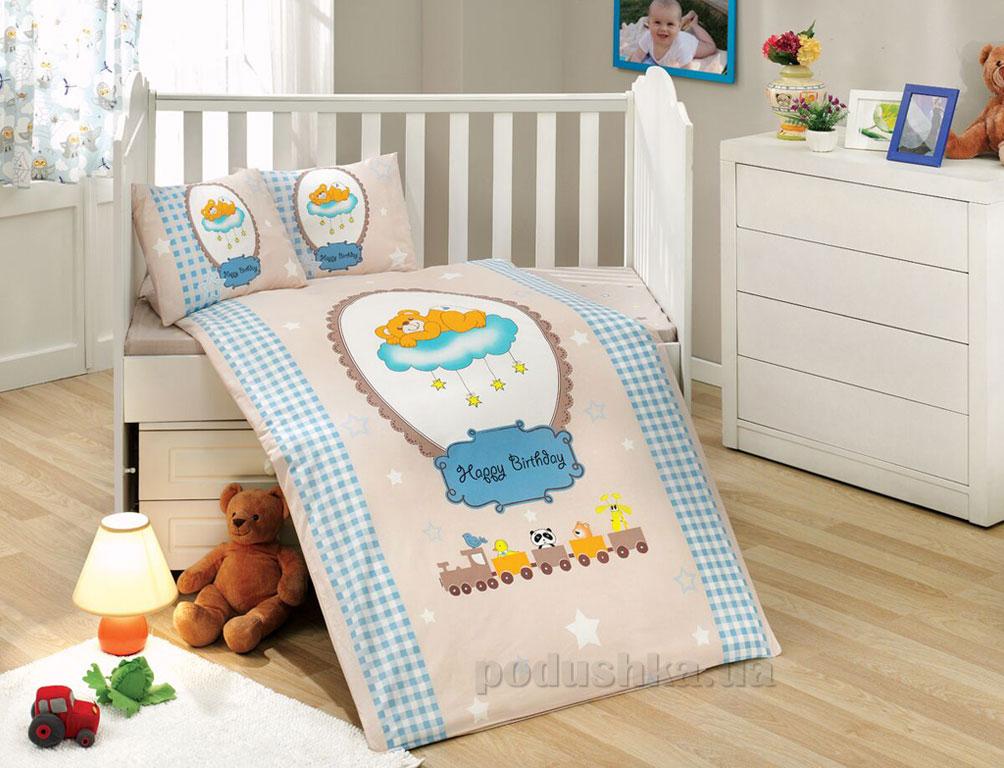 Детское постельное белье Hobby Sateen Bambam голубое