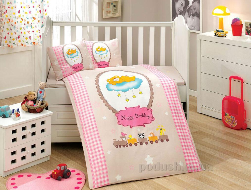 Детское постельное белье Hobby Sateen Bambam розовое
