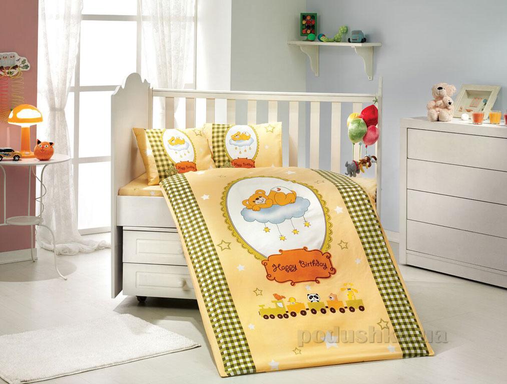 Детское постельное белье Hobby Sateen Bambam желтое