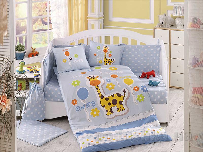 Детское постельное белье Hobby Sateen Puffy голубое