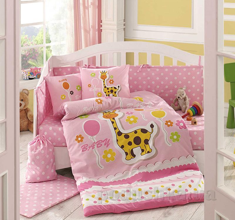 Детское постельное белье Hobby Sateen Puffy розовое