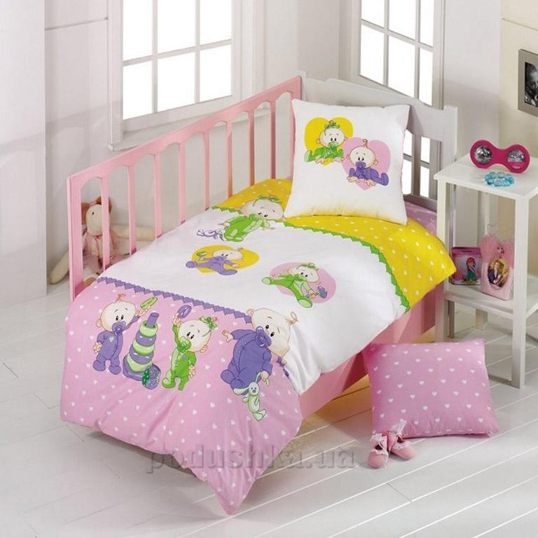 Детское постельное белье Kristal Bebis V01 розовое