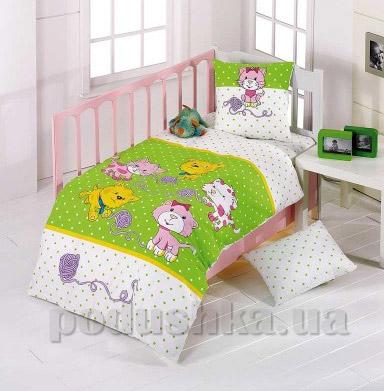 Детское постельное белье Kristal Kidcik V02 салатовое