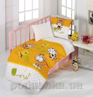 Детское постельное белье Kristal Kidcik V04 желтое