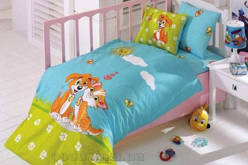 Детское постельное белье Kristal Pati бирюзовое