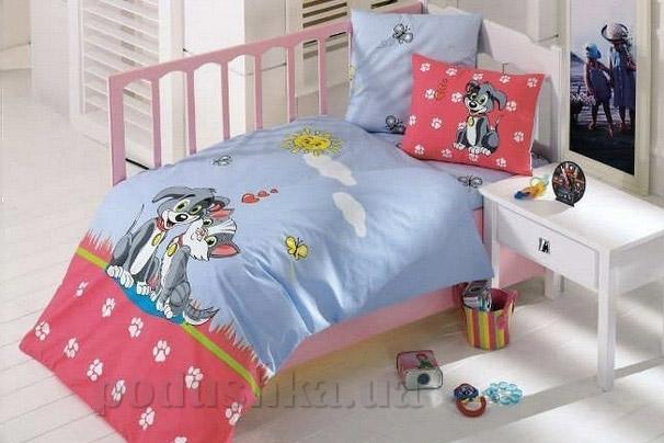 Детское постельное белье Kristal Pati голубое