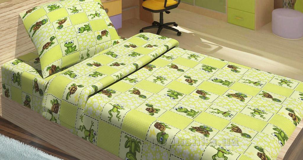 Детское постельное белье Lotus Jojo зеленое Детский комплект  Lotus