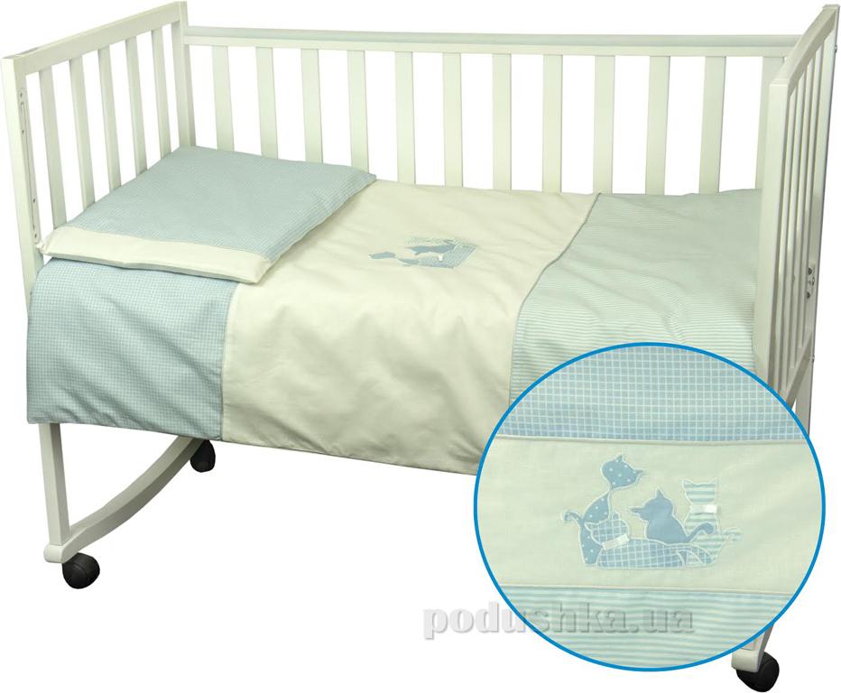 Детское постельное белье Руно 932 Котята голубое