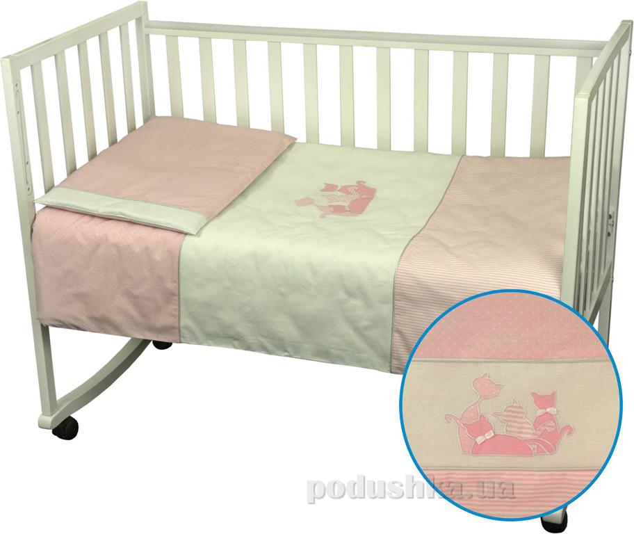 Детское постельное белье Руно 932 Котята розовое