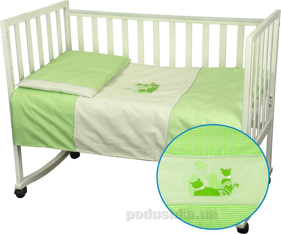 Детское постельное белье Руно 932 Котята салатовое