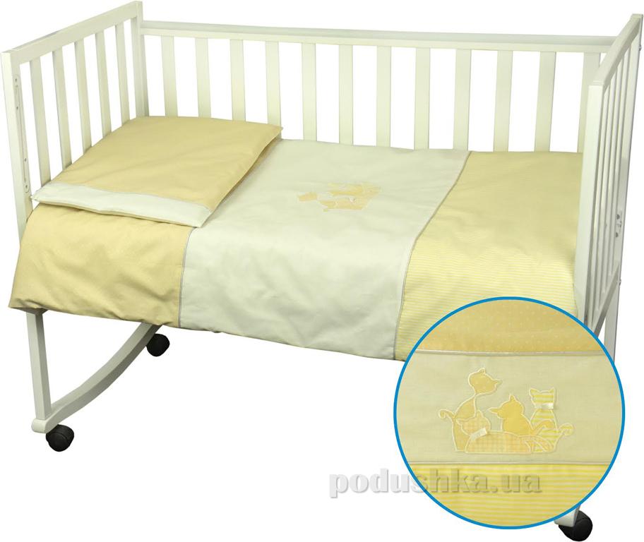 Детское постельное белье Руно 932 Котята желтое