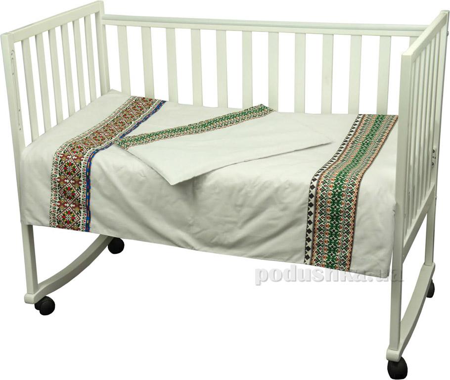 Детское постельное белье Руно Славяночка зеленое