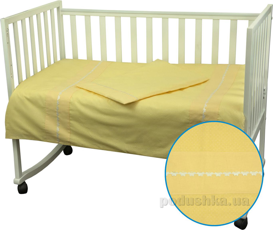Детское постельное белье Руно Весёлый горошек желтое