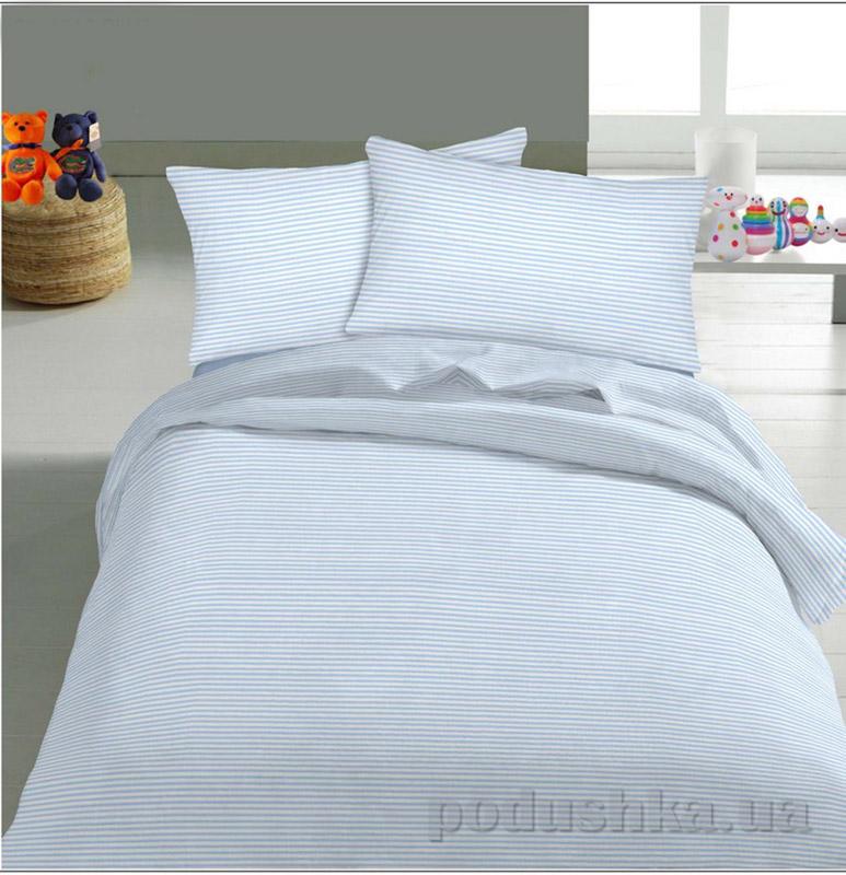 Детское постельное белье TM Nostra Бязь Rainforce голубой мелкая полоска