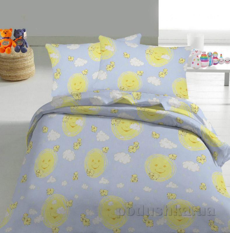 Детское постельное белье TM Nostra Бязь Rainforce голубой солнышко