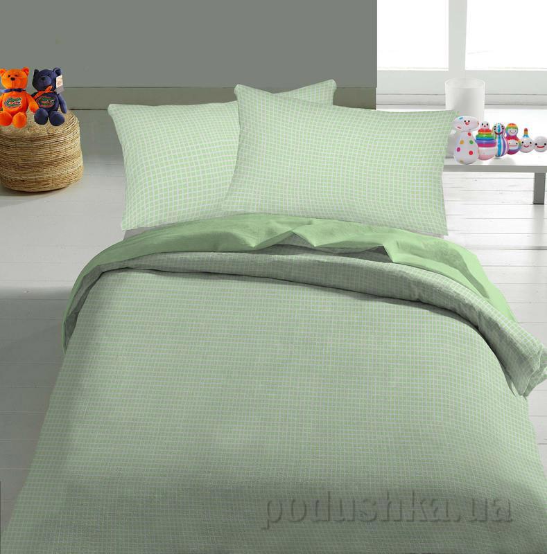 Детское постельное белье TM Nostra Бязь Rainforce светло-зеленый клетка
