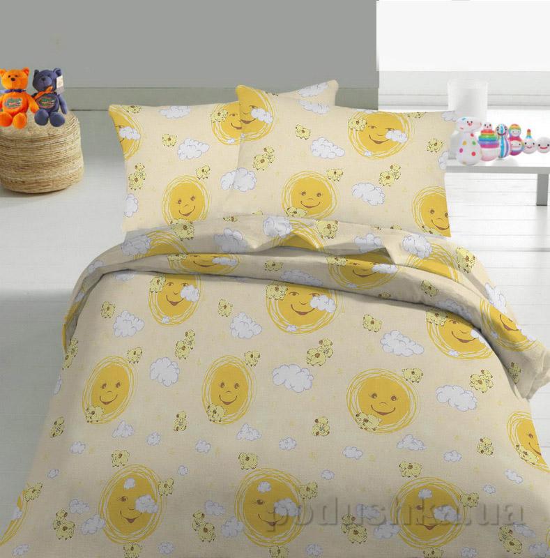 Детское постельное белье TM Nostra Бязь Rainforce желто-бежевый солнышко