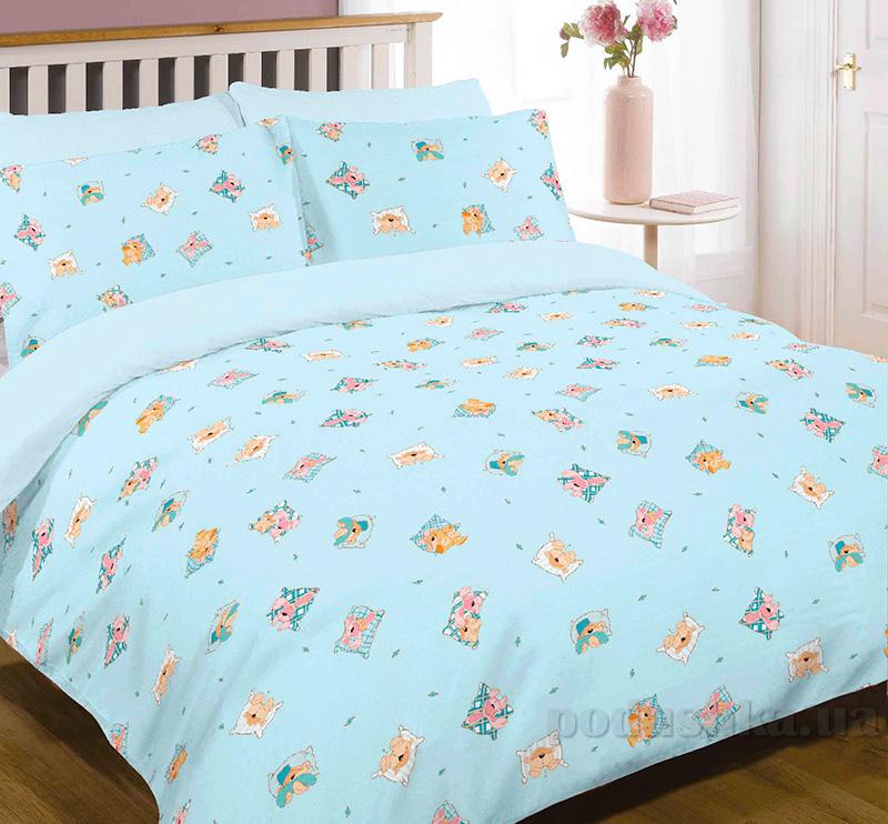 Детское постельное белье Вилюта ранфорс 7618 blue