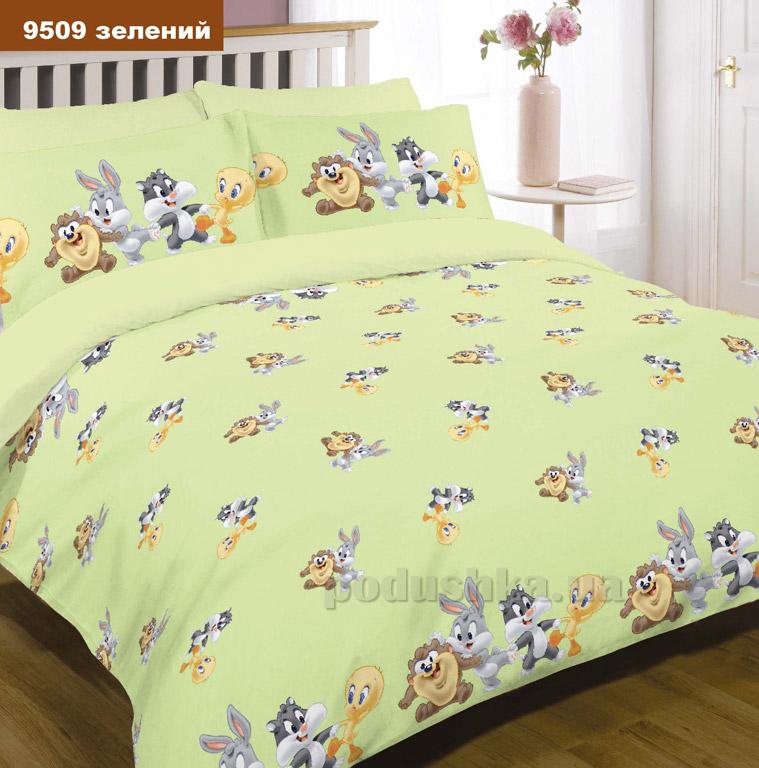 Детское постельное белье Вилюта ранфорс 9509 зелёное