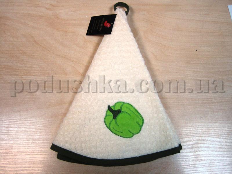 Полотенце махровое кухонное круглое Mariposa Перец крем