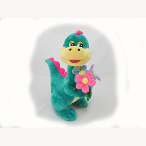 Мягкая игрушка - ДРАКОША С ЦВЕТАМИ (муз., 24 см)