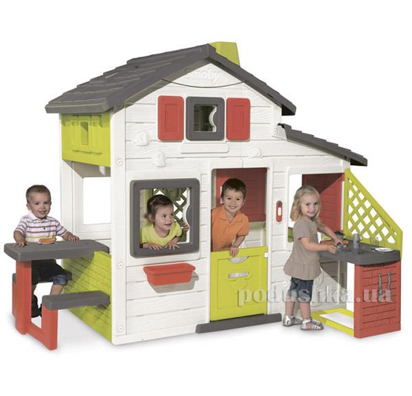 Дом для друзей с чердаком и летней кухней Smoby 810200   Smoby