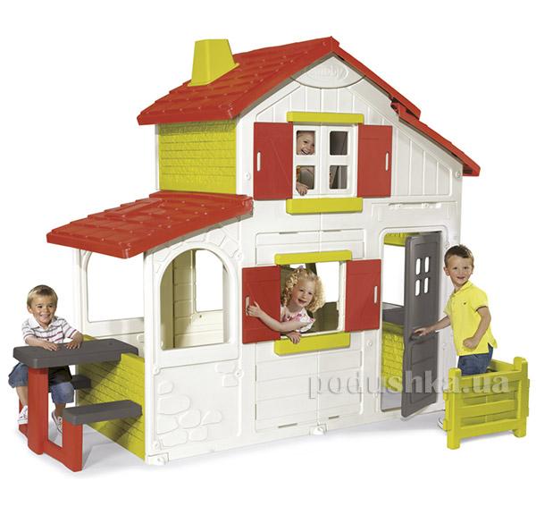 Дом двухэтажный с кухней-барбекю и звонком Smoby 320023   Smoby