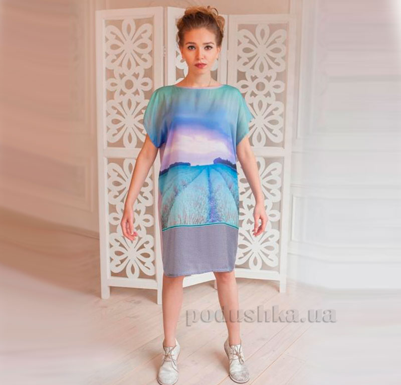 Домашнее платье Лаванда Godis голубое