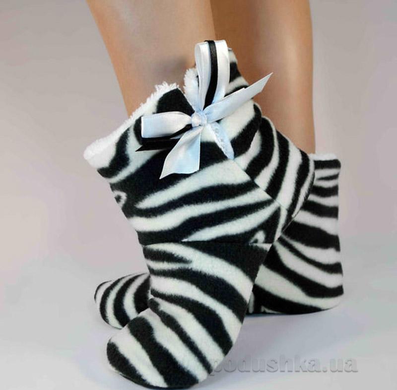 Домашние тапочки Slivki Угги Zebra