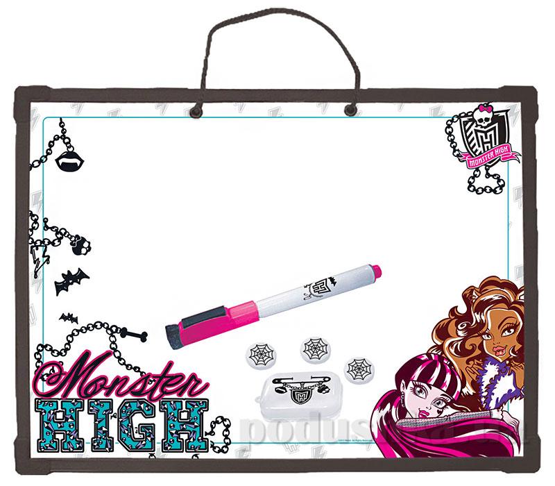 Доска Пиши-стирай на веревочке Monster High