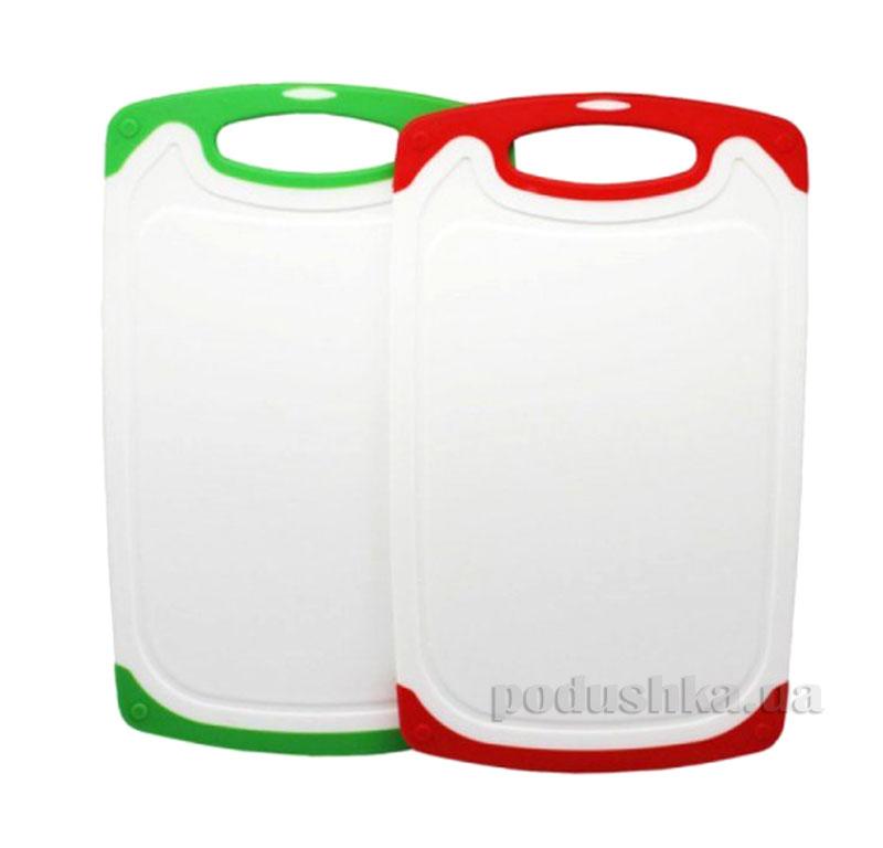 Доска разделочная двухцветная пластиковая Kamille AM-1024